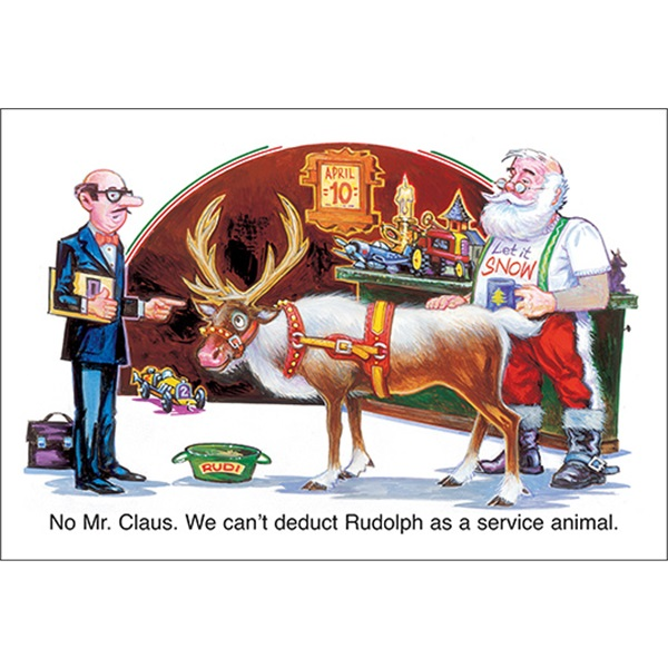 We Can't Deduct Rudolph