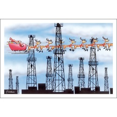 Oil Derricks Skyline