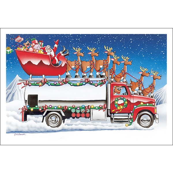 Season's Greetings Fuel Truck