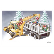 Elf In Loader Filling Dump Truck