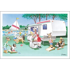 Camping Christmas Cards.Rv Camping Christmas Cards Paul Oxman Publishing