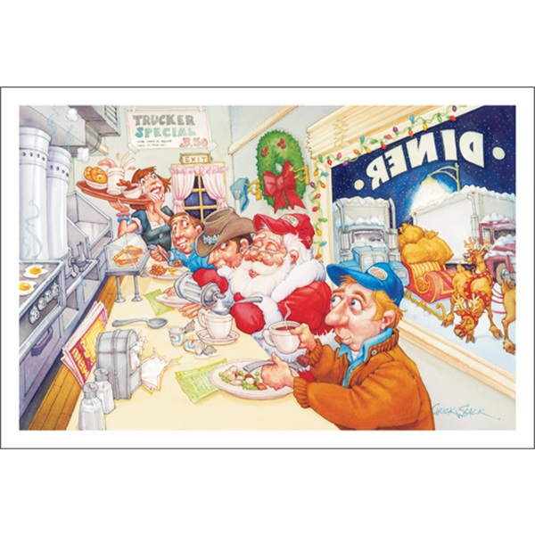 Santa's Orders Coffee With Cream
