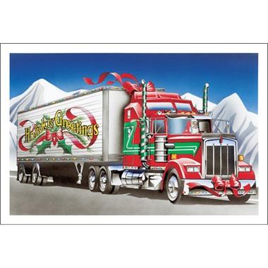 Holiday Greetings Big Rig