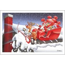 Santa Plows The Roof